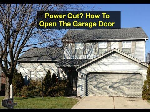 No power, how to open your garage door manually - VOTD