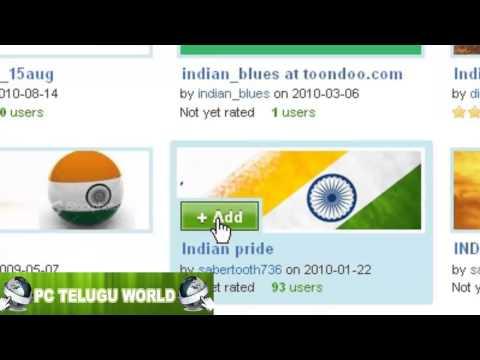 Change mozilla firefox navigation bar background theme TELUGU FULL HD