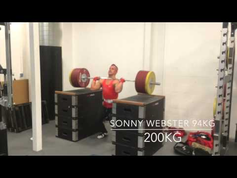 Sonny Webster weightlifting Training video 12/10/14