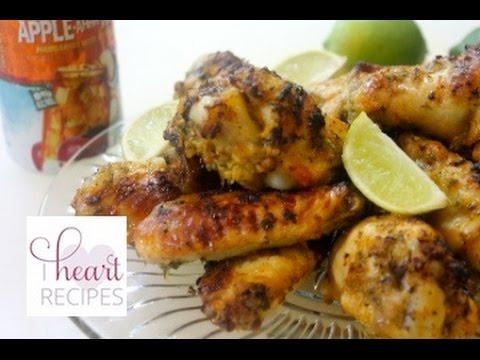 Baked Cilantro Lime Chicken Wings Recipe - Super Bowl Recipe - I Heart Recipes