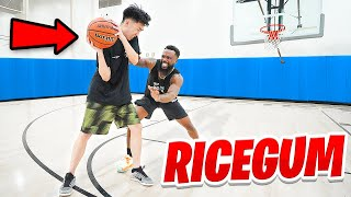 BASKETBALL GAME OF THE YEAR! 1vs1 Against RICEGUM!!