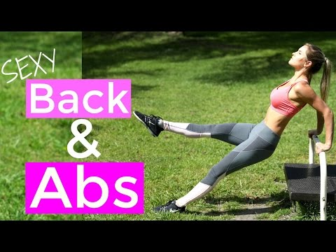 How To Get Sexy Abs & Back | Rebecca Louise