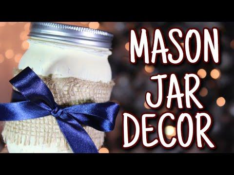 DIY MASON JAR DECORATION | WEDDING DECOR