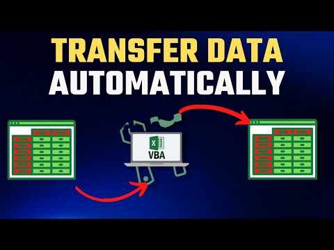How to Automatically Transfer Data From One Excel Worksheet To Another With Vba and Macros