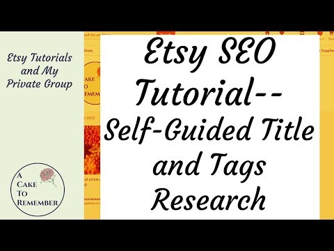 Etsy Tutorials- How To Find Keywords, and My Private Facebook Group.