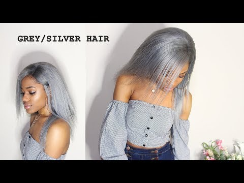 HOW TO DYE HAIR GREY/SILVER WITHOUT BLEACH (DETAILED TUTORIAL) || FT. SUPERNOVA HAIR