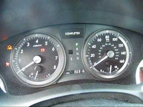 Maintenance Required Reset For 2007 Lexus Es350