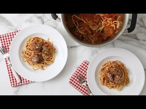 Easy Spaghetti and Meatballs- Martha Stewart