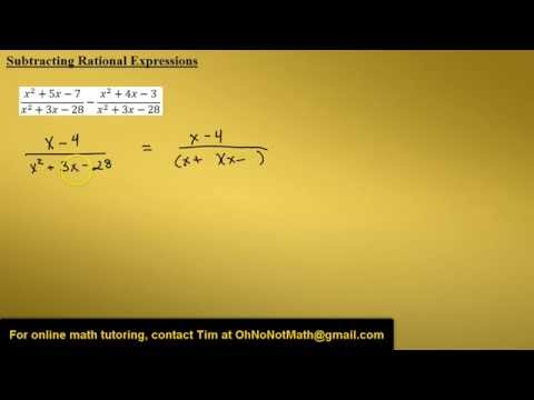 Subtracting Rational Expressions, Example 3