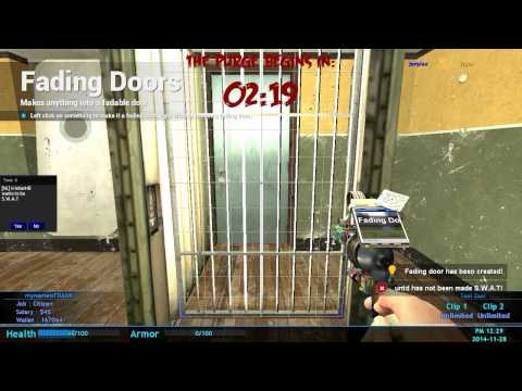how to make a fadeing door in Gmod