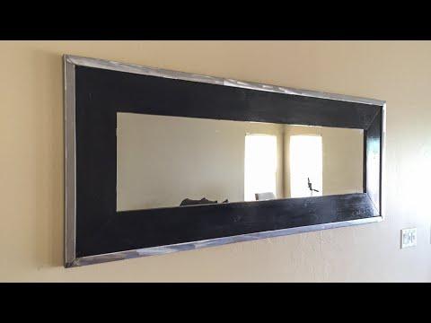 DIY Framed Mirror // Wood and Steel