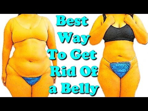 best way to get rid of a belly