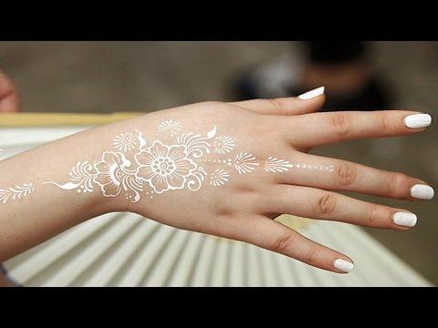 White Henna Tattoo, White Henna After Washing