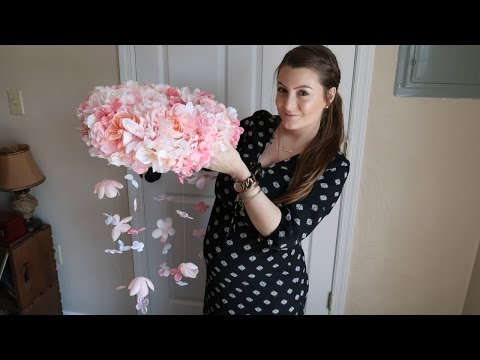 DIY Floral Mobile + Baby Shower Shopping!! | April 15, 2017