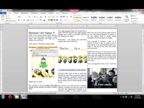 How to Make 3 Columns in Microsoft word
