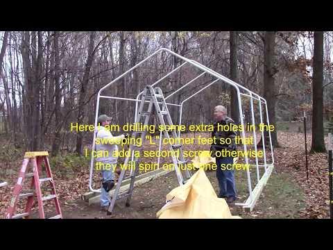 How do I build a HF 10 X 17 portable garage-SHOWS TARP INSTALL