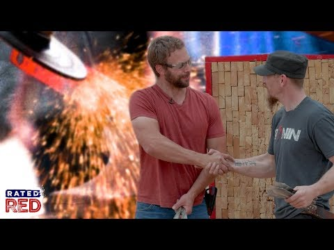 Forged in Fire Champ Travis Wuertz Learns How to Throw Knives with Jason Johnson