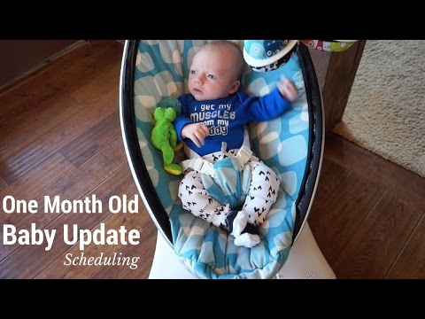 Baby Update: 1 Month Old - Sleeping Schedule