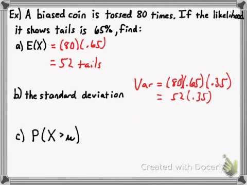 Expected Value and Variance of Binomial Distribution