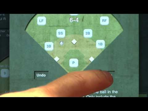 Scoring a Fielders Choice - ESPN iScore Baseball Scorekeeper for iPad