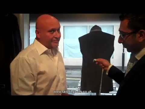 TailoringUK - Measuring a Bespoke Suit Jacket