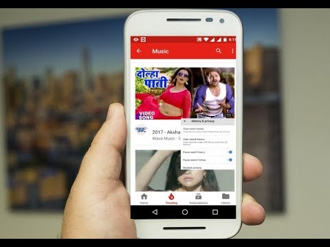 How to Delete & Stop Youtube Video Watch History In Android-Hindi