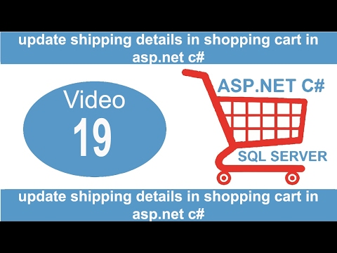 update shipping details in shopping cart in asp.net c#