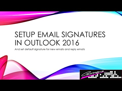How To Setup Email Signature In Outlook 2016