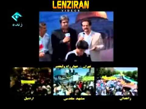 All funny things   from show of football skill and rally of artists in Tehran Quds Day
