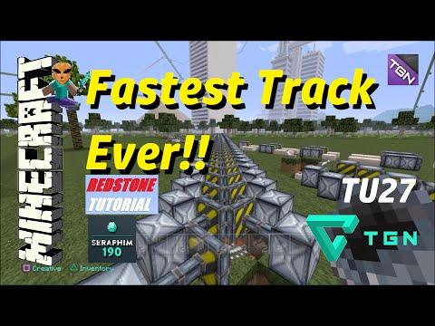 Minecraft: Fastest Minecart Track In The World - (Tutorial) Episode: 299
