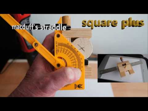 Woodworking tools Straddle square plus/multiple tool