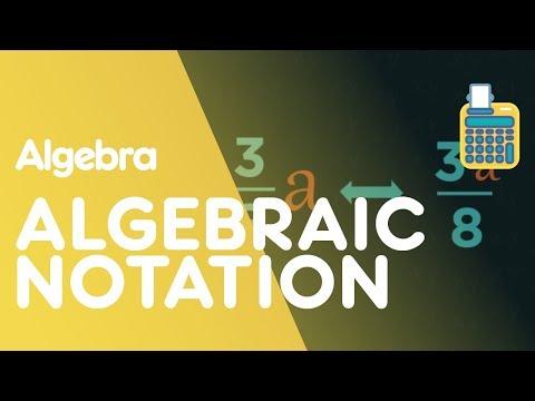 Algebraic Notation - Introduction to Algebra | Algebra | Maths | FuseSchool