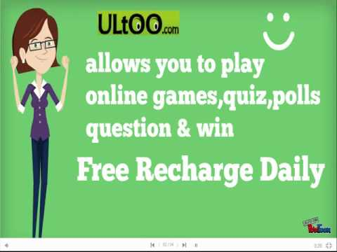Play games and Earn Free Recharge Coupon With Ultoo com