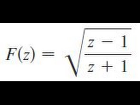 F(z) = sqrt((z-1)/(z+1)), Find the derivative of the function.