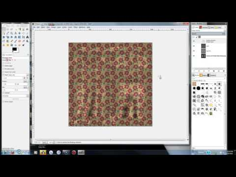 Simple Gimp tutorial for retexturing mesh clothing kits in SL (part 1)