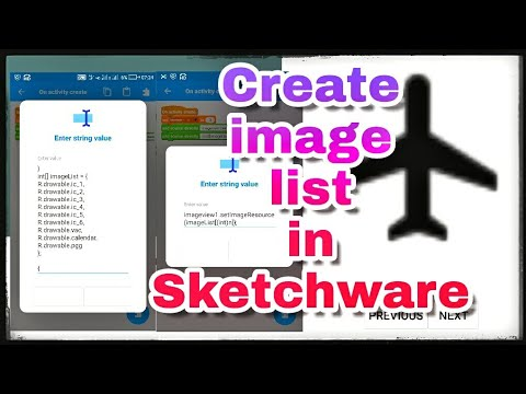 Creating image list for browsing images in app