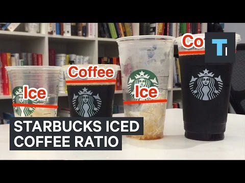 Starbucks iced coffee ratio