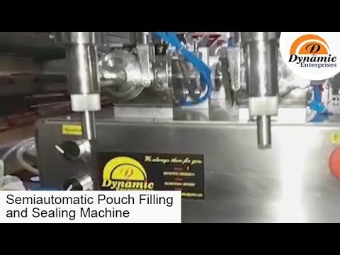 Semiautomatic Pouch Filling and Sealing Machine