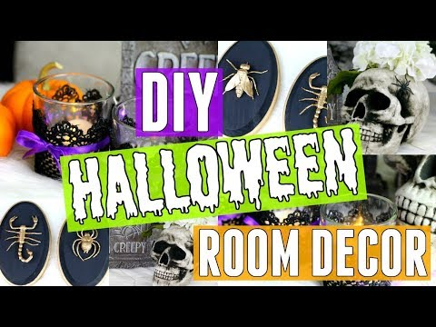 TOP 5 SPOOKY DIY HALLOWEEN CRAFTS-CHEAP & EASY-LAST MINUTE HOME DECOR-KIDS CRAFTS FOR HALLOWEEN 2017