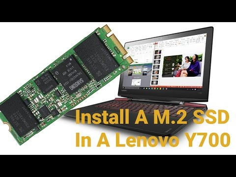 How To Install A M.2 SSD Drive In A Lenovo Y700 14