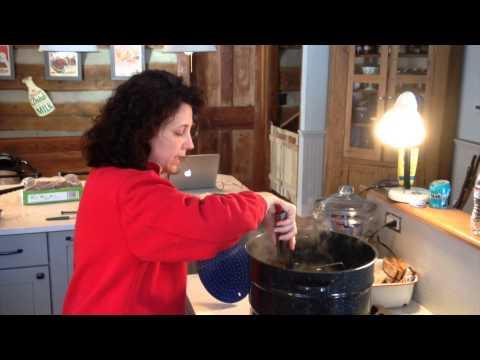 Making Strawberry Jam