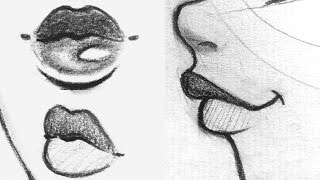 How To Draw Lips  Front Side 34 View