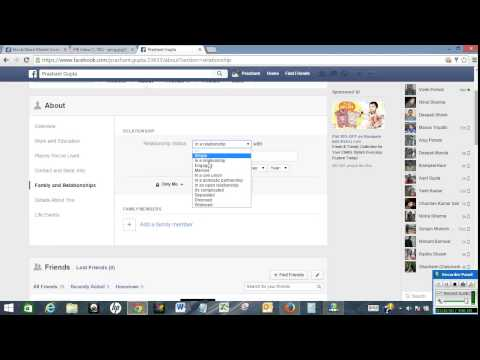Update Facebook relationship status secretly