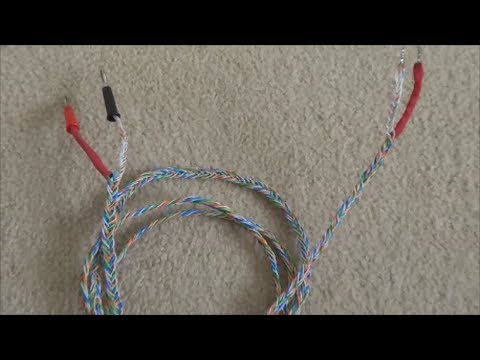 How to build CAT5 Braided Speaker Cables