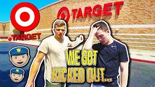 DOING DARES AT TARGET *we got kicked out...*