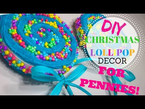 Best Christmas Lollipop Ever!! 2 for 1! Christmas Decor DIY