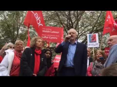 Corbyn in Cardiff