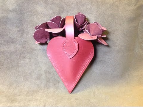 Hand Sewn Leather roses