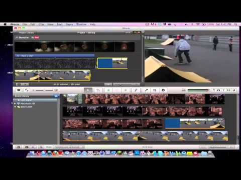 iMovie 11 - How to add Slow Down or Speed Up a Video!