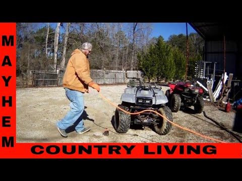 Cutting trails on the 4 wheelers